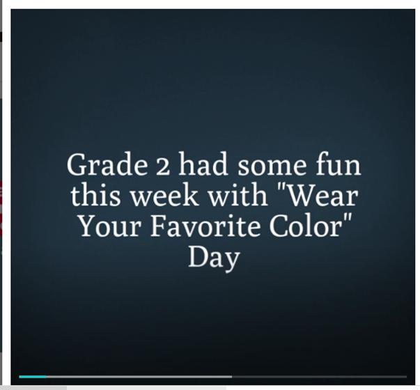 Grade 2 Color Day Video