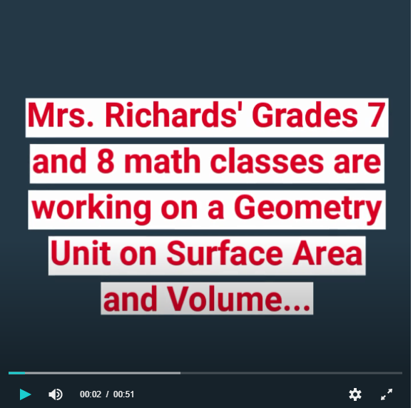 Grades 7&8 Math - Surface Area Video