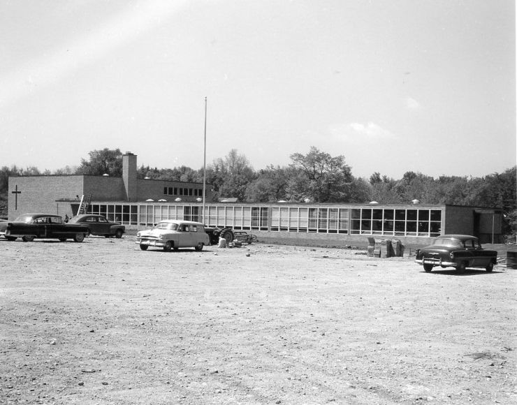 Saint Mary School while under construction