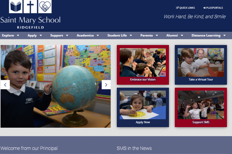 Saint Mary School in Ridgefield Launches New Website Showcasing Distance Learning, Offering Virtual Tours